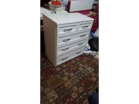 White chest of drawers £70