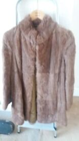 Vintage Real fur coat for sale brown in colour and size 14 in great condition