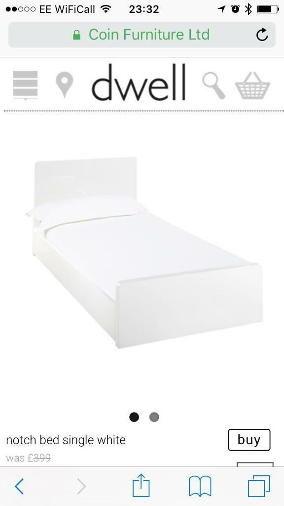 Dwell notch bed single whitein AberdeenGumtree - Dwell single bed Notch whiteComes with mattress from dwell (1 year old)Good overall condition. Already dismantled, so ready to go.From pet and smoke free home