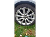 """Jaguar/ford 19"""" alloys and new tyres"""