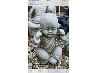 See of 3 stone Buddhas 12 inches tall