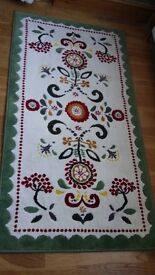 rug with folkloric pattern