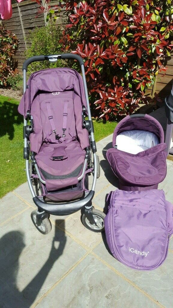 ICANDY CHERRY PUSHCHAIR IN MULBERRY COLOUR