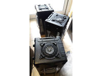 THREE Steepletone SM-001 Street Machine Portable Speakers Boom Box Dance Disco FAULTY