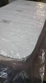 A brand new still packed slight bag damaged men foam topped king size mattress.