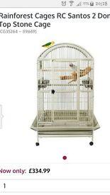 PARROT CAGE LARGE RAINFOREST SANTOS 2 DOME TOP CAGE can courier