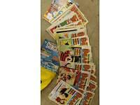 Huge selection of 90s beano and dandy comics