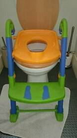 Children's toilet seat step