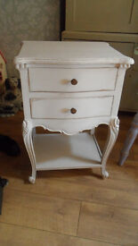 Painted French style Bedside Drawers