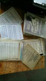 Jazz books and large quantities of sheet music