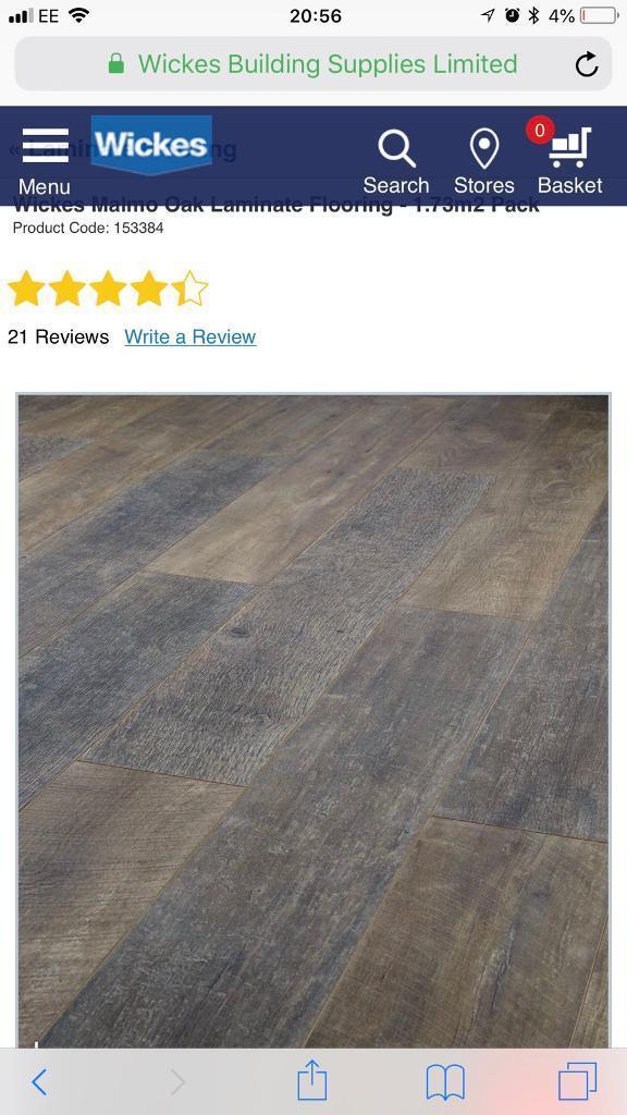 New Wickes Malmo Oak Laminate Flooring 6 4 Sqm With Underlay
