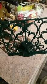 Green Cast Iron cook book holder