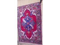 Persian Handmade Rug - Red Blue White