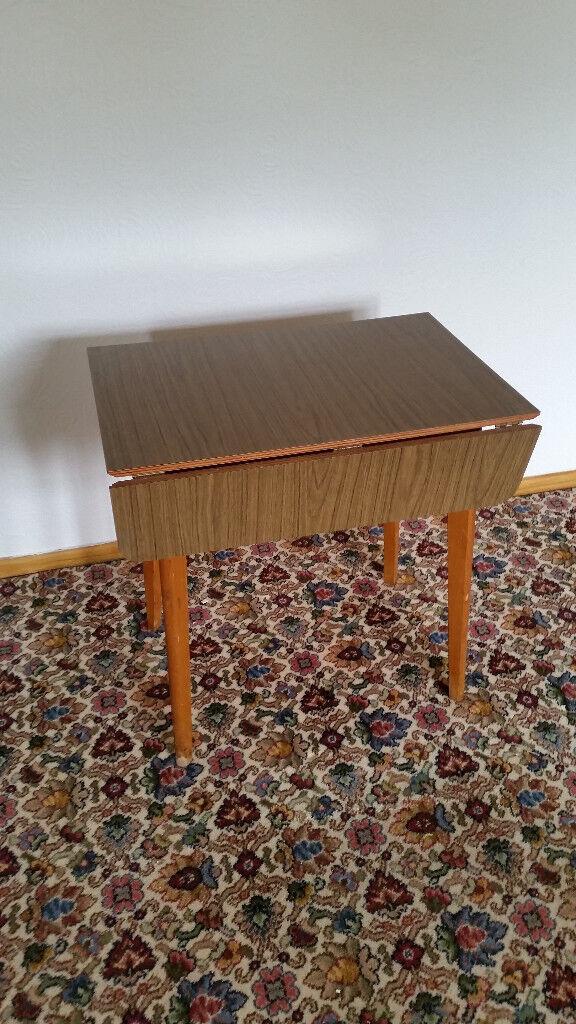 foldaway table - vintage antique retro wood metal kitchen