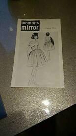 Two vintage unmade 1961 mail order dresses