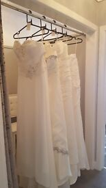 Beautiful A-line wedding dresses in lvory must be viewed at Diamond Bridal Wear