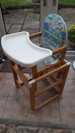 High Chair/Child's table and chair