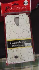 Samsung S4 White Diamante phone case