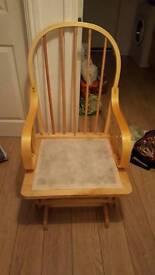 Rocking nursing chair and foot stool