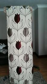 Beautiful curtains 66 x 72, with 4 matching cushion covers to match