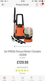 Vax pressure washer £129 in Argos only used once