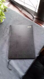 2018 New Black Appointment Book