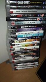 PS3 bundle most call of duty's including GTA5