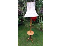 VINTAGE wooden lamp with table