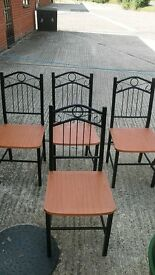 Dining Chairs - metal framed