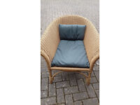Conservatory Outdoor Cane Rattan Chair with cushion