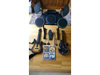 PS3 Guitar Hero Games and Accessories Bundle