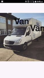 24/7 cheap man and van removals service short notice luton van available