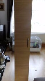Tall cupboard with shelves suitable for bathroom bedroom etc