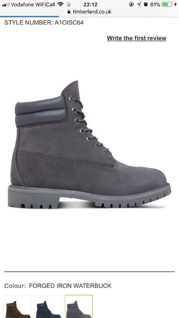 Grey timberland boots Genuine
