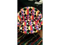 Retro Funky Multicoloured Tub Desk Chair