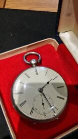 1800's Period Solid Silver Pocket Watch - Working Movement