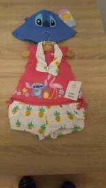 Disney Baby Girl Outfit 3-6 months brand new