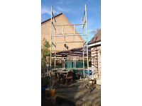 Aluminium Scaffold Tower 4.3m - robust strong welded frames