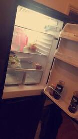 Black HOTPOINT fridge freezer