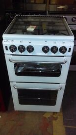 NEWWORLD white 50Cm Gas Cooker in Ex Display which may have minor marks or blemishes.