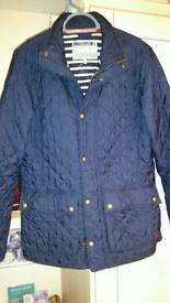 Men's joules quilted navy jacket/coat.