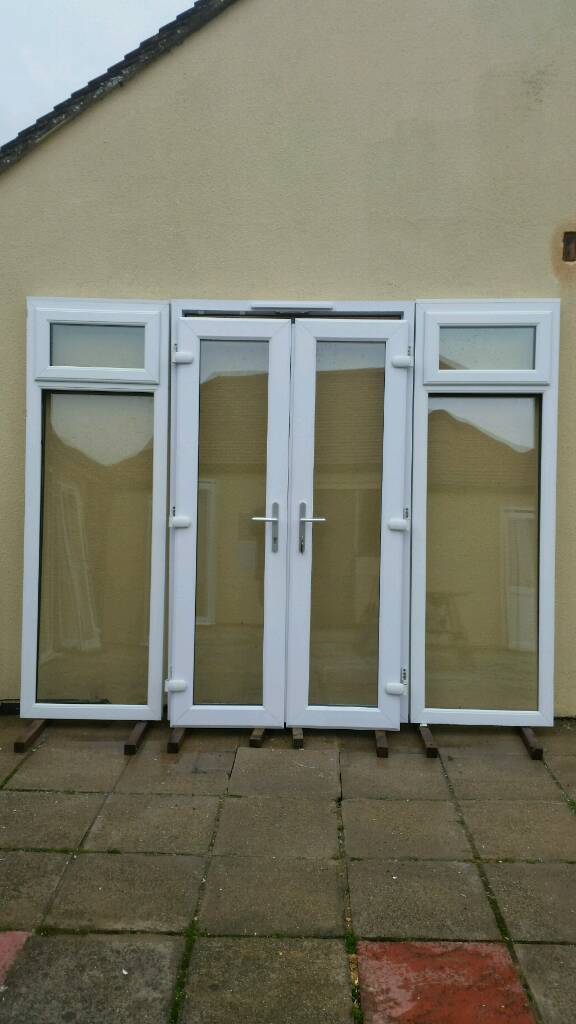 Upvc French Patio Doors With Side Windows Vgc 34 Years Old
