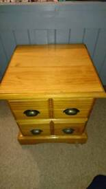 Bed side table/drawers