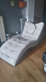 Ivory Leather lounger
