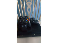 XBOX 360 + CONTROLLERS + 29 GAMES BUNDLE