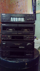 sony stereo for sale , cd player missing, twin tape decks not working but a great powerful sound .