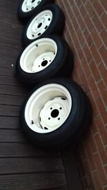 For sale classic vw beetle deep dish wheels.