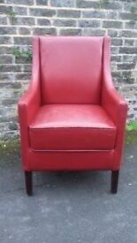 Red armchairs FREE DELIVERY