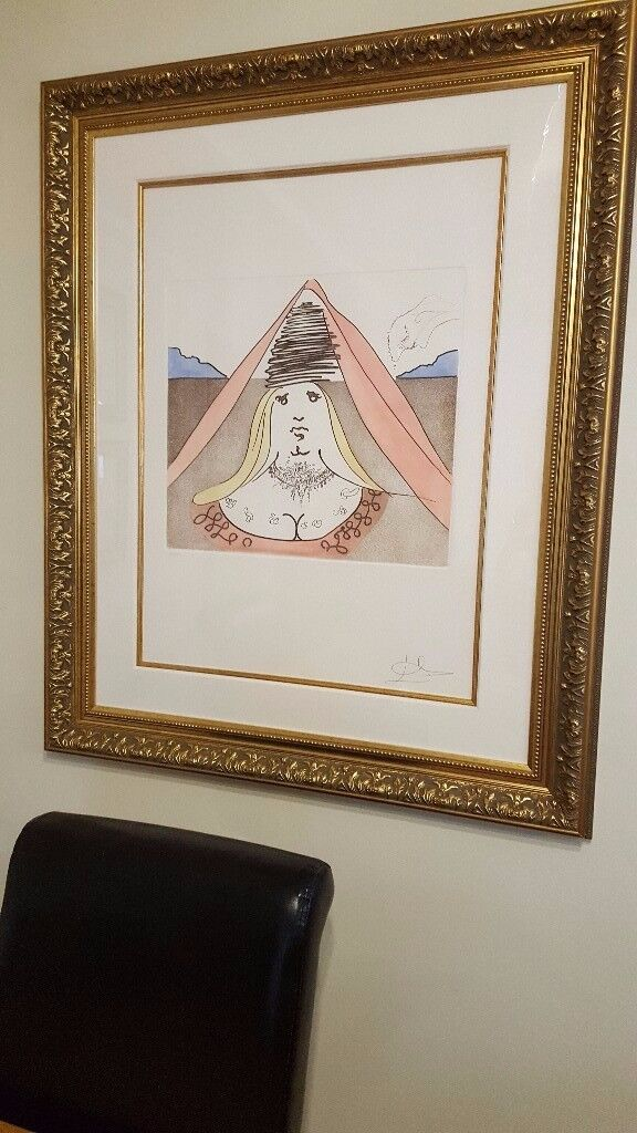 large gallery framed Salvador Dali, small run, stunning piece fully documented