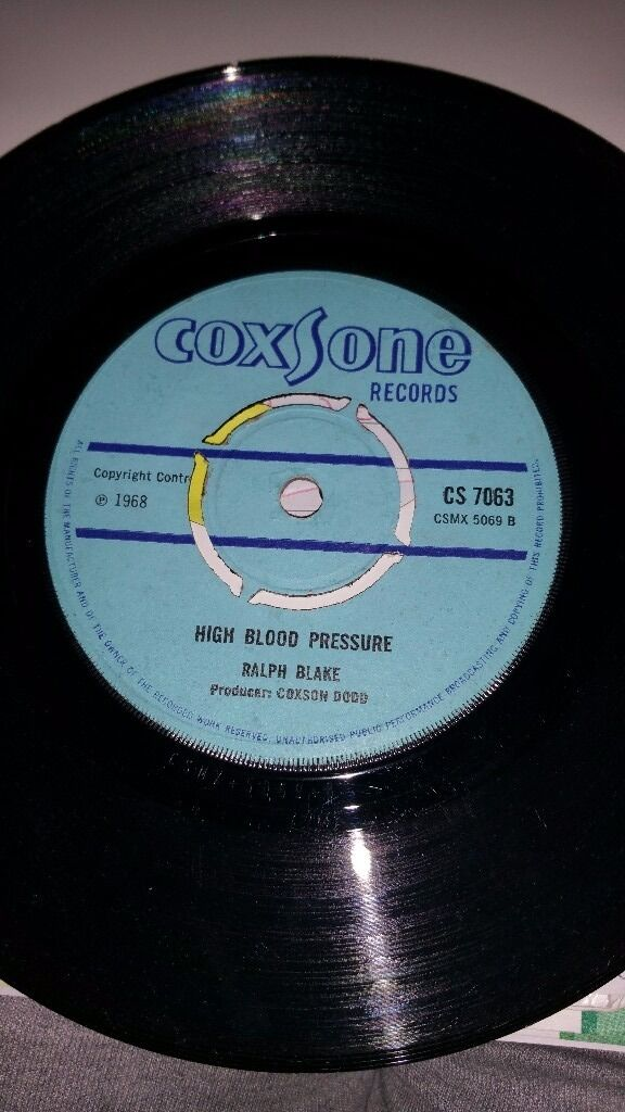 ROCKING TIME/HIGH BLOOD PRESSURE. COXSONE RECORD LABLE
